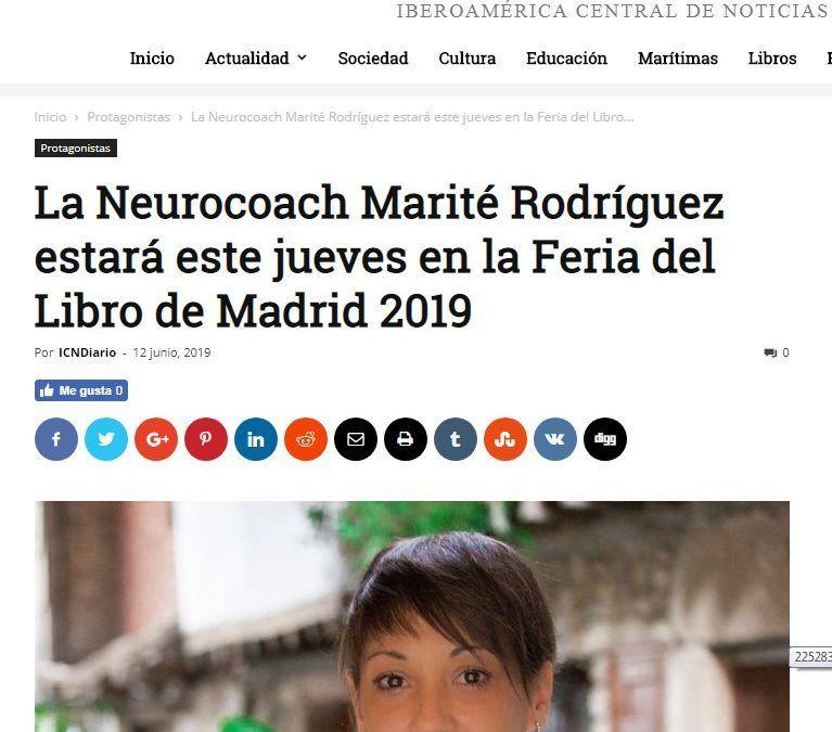 """ICNDiario informa de la firma del """"GuíaBurros: Neurocoaching"""", de Marité Rodríguez"""